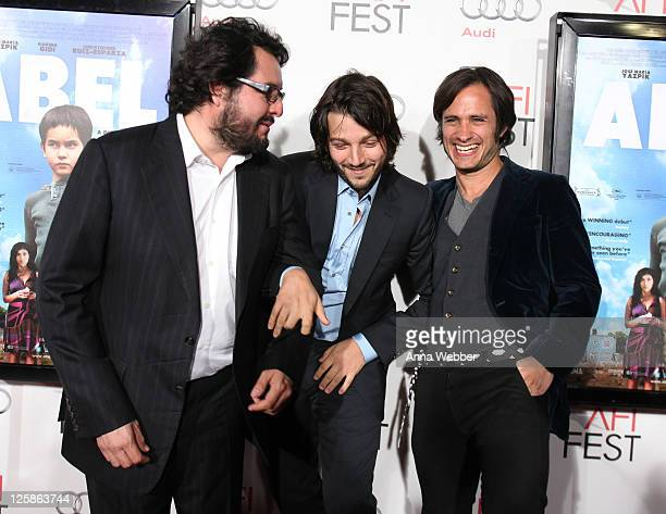 Christopher RuizEsparza Diego Luna and Gael Garcia Bernal arrive to the AFI Fest 2010 Screening Of 'Abel' Red Carpet at Grauman's Chinese Theatre on...