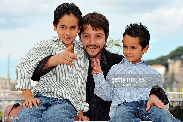 Christopher RuizEsparza Diego Luna and Gerardo RuizEsparza at the photo call for Abel during the 63rd Cannes International Film Festival