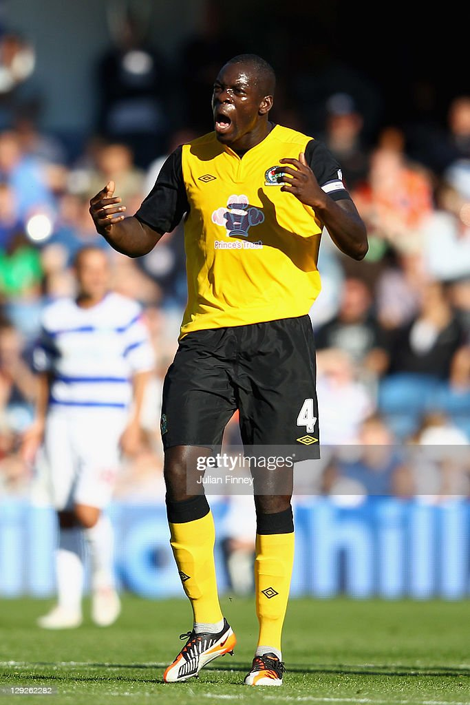 <a gi-track='captionPersonalityLinkClicked' href=/galleries/search?phrase=Christopher+Samba&family=editorial&specificpeople=739114 ng-click='$event.stopPropagation()'>Christopher Samba</a> of Blackburn Rovers celebrates scoring the equalising goal during the Barclays Premier League match between Queens Park Rangers and Blackburn Rovers at Loftus Road on October 15, 2011 in London, England.