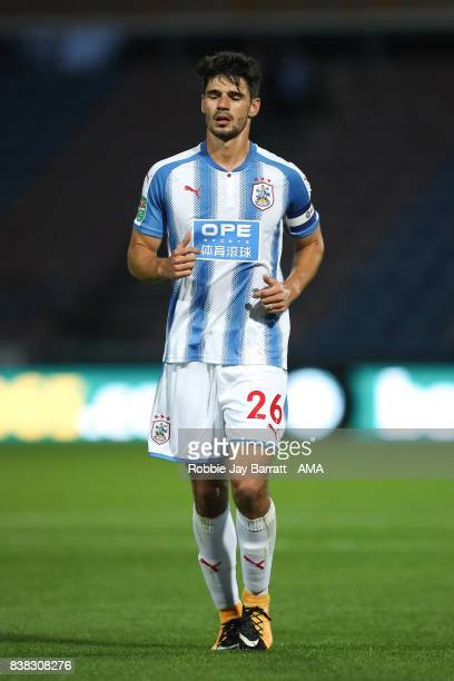 Christopher Schindler of Huddersfield Town during the Carabao Cup Second Round match between Huddersfield Town and Rotherham United at The John...