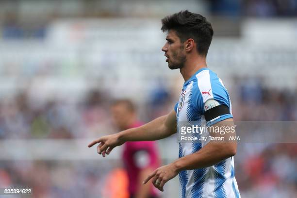 Christopher Schindler of Huddersfield Town during the Premier League match between Huddersfield Town and Newcastle United at Galpharm Stadium on...