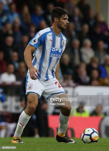 Christopher Schindler of Huddersfield Town during the Premier League match between Burnley and Huddersfield Town at Turf Moor on September 23 2017 in...