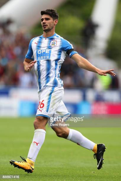 Christopher Schindler of Huddersfield Town looks during the Premier League match between Huddersfield Town and Newcastle United at John Smith's...