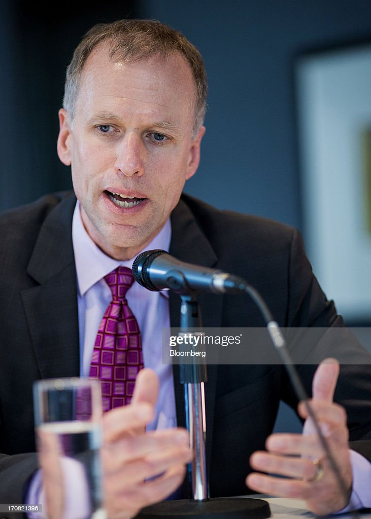 Christopher Seasons, president of Devon Canada Corp., speaks during a panel discussion at the official opening of the Bloomberg office in Calgary, Alberta, Canada, on Tuesday, June 18, 2013. Devon said there is a 90%-plus chance of approval for the Keystone XL pipeline. Photographer: Chris Bolin/Bloomberg via Getty Images