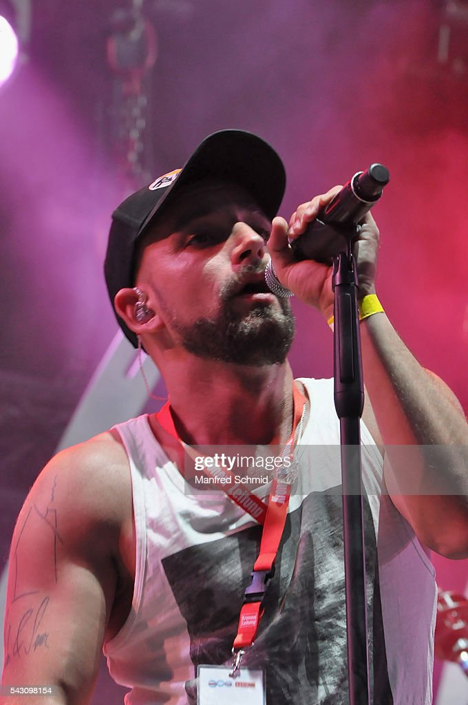 Christopher Seiler of Seiler und Speer performs on stage at Donauinselfest DIF 2016 Vienna at Donauinsel on June 25, 2016 in Vienna, Austria.
