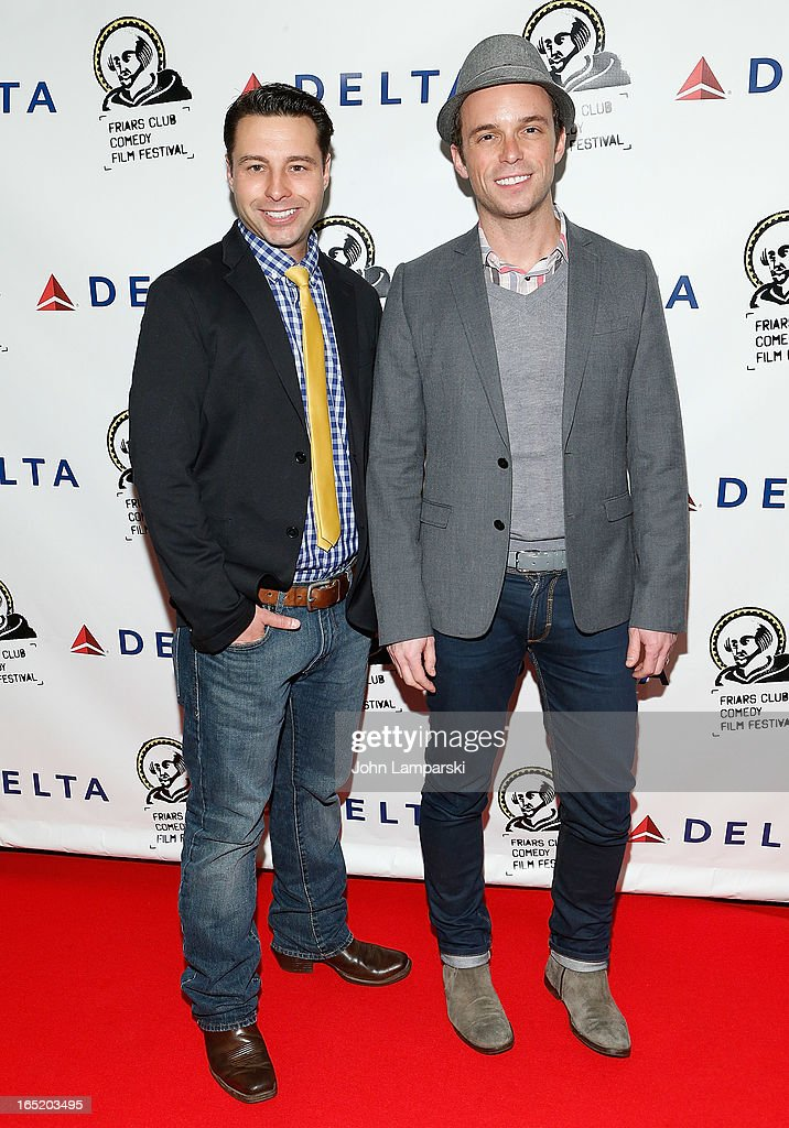 Christopher Sepulveda and Geoffrey Soffer attend the Friars Club Fifth Annual Comedy Film Festival Opening Night at NYU Cantor Film Center on April 1, 2013 in New York City.