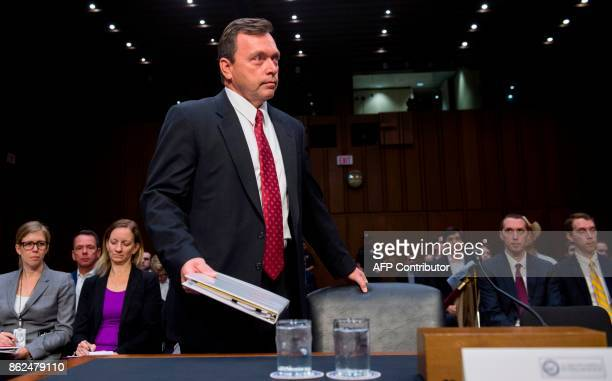 Christopher Sharpley nominee for inspector general of the Central Intelligence Agency arrives to testify during his confirmation hearing before the...