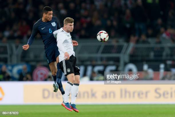 Christopher Smalling und Timo Werner of Germany battle for the ball during the international friendly match between Germany and England at Signal...