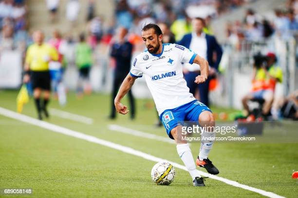 Christopher Telo of IFK Norrkoping during the Allsvenskan match between IFK Norrkoping and Halmstad BK at Ostgotaporten on May 27 2017 in Norrkoping...