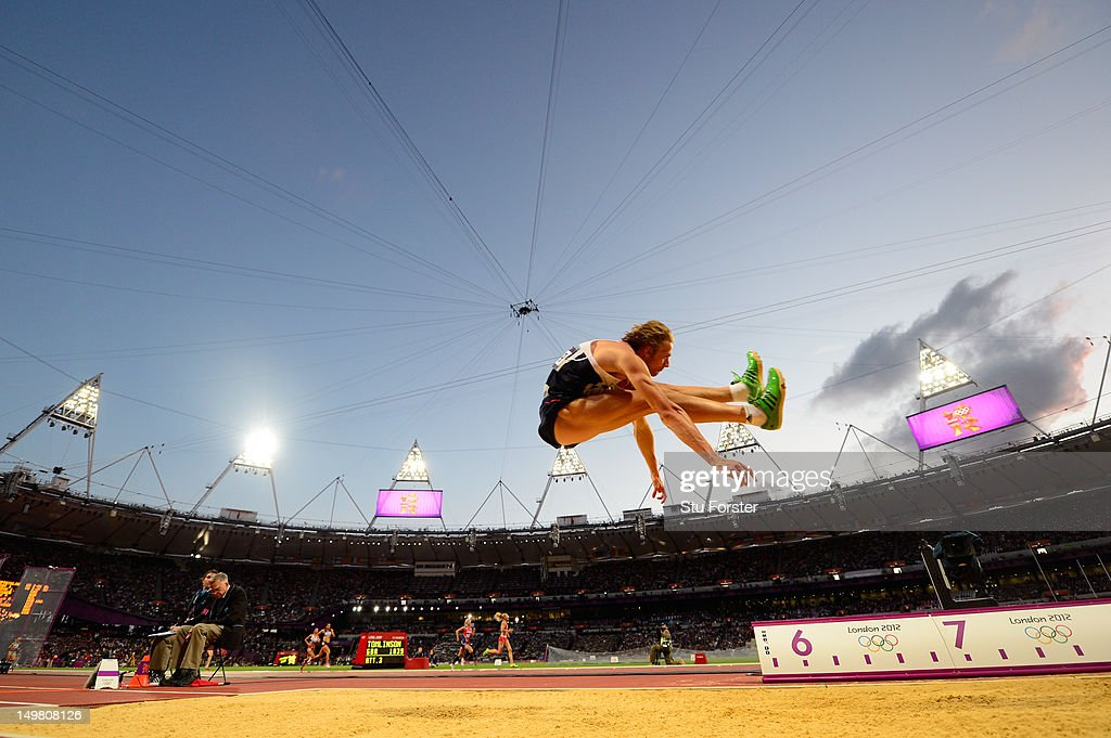 <a gi-track='captionPersonalityLinkClicked' href=/galleries/search?phrase=Christopher+Tomlinson&family=editorial&specificpeople=795113 ng-click='$event.stopPropagation()'>Christopher Tomlinson</a> of Great Britain competes in the Men's Long Jump Final on Day 8 of the London 2012 Olympic Games at Olympic Stadium on August 4, 2012 in London, England.