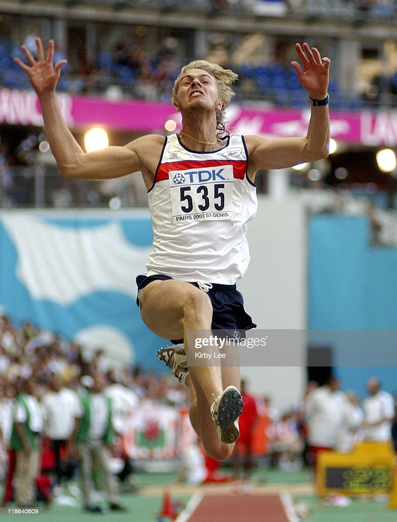 <a gi-track='captionPersonalityLinkClicked' href=/galleries/search?phrase=Christopher+Tomlinson&family=editorial&specificpeople=795113 ng-click='$event.stopPropagation()'>Christopher Tomlinson</a> of Great Britain during IAAF World Championships in Athletics - August 27, 2003 at Stade de France in St. Denis, France.