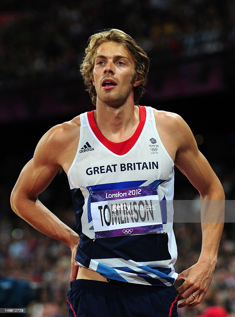 <a gi-track='captionPersonalityLinkClicked' href=/galleries/search?phrase=Christopher+Tomlinson&family=editorial&specificpeople=795113 ng-click='$event.stopPropagation()'>Christopher Tomlinson</a> of Great Britain reacts afer a jump in the Men's Long Jump Final on Day 8 of the London 2012 Olympic Games at Olympic Stadium on August 4, 2012 in London, England.