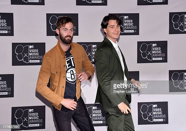 Christopher Tomson and Ezra Koenig of Vampire Weekend attend the 2013 MTV Video Music Awards at the Barclays Center on August 25 2013 in the Brooklyn...
