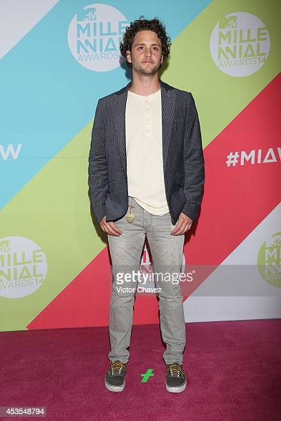 Christopher Uckermann attends the MTV Millennial Awards 2014 red carpet at Pepsi Center WTC on August 12 2014 in Mexico City Mexico