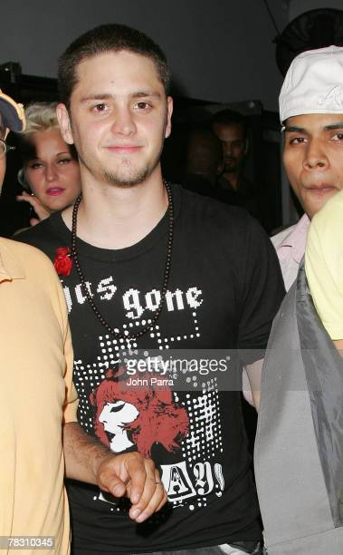 Christopher Uckermann of RBD arrives at the Mansion Nightclub where Paris Hilton hosts Mansion Nightclub on December 5 2007 in Miami Beach Florida