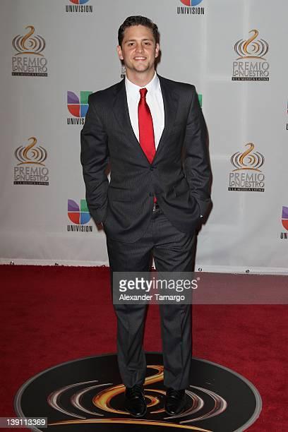 Christopher von Uckermann arrives at Univision's Premio Lo Nuestro a La Musica Latina at American Airlines Arena on February 16 2012 in Miami Florida