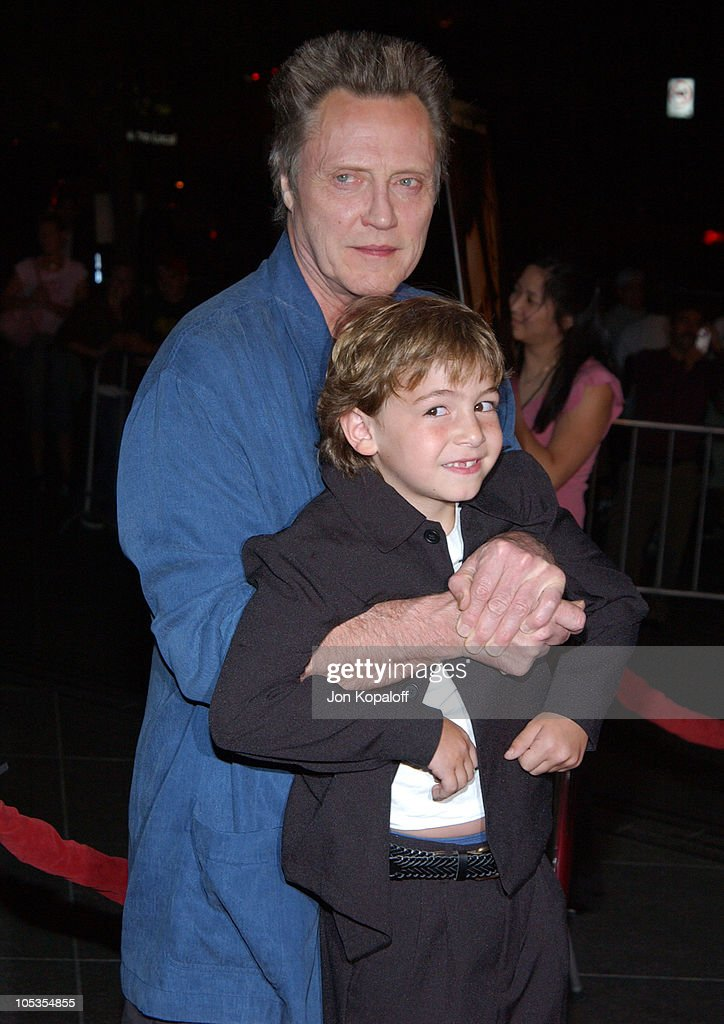 Christopher Walken and Jonah Bobo during 'Around The Bend' Los Angeles Premiere Arrivals at Directors Guild of America in Los Angeles California...