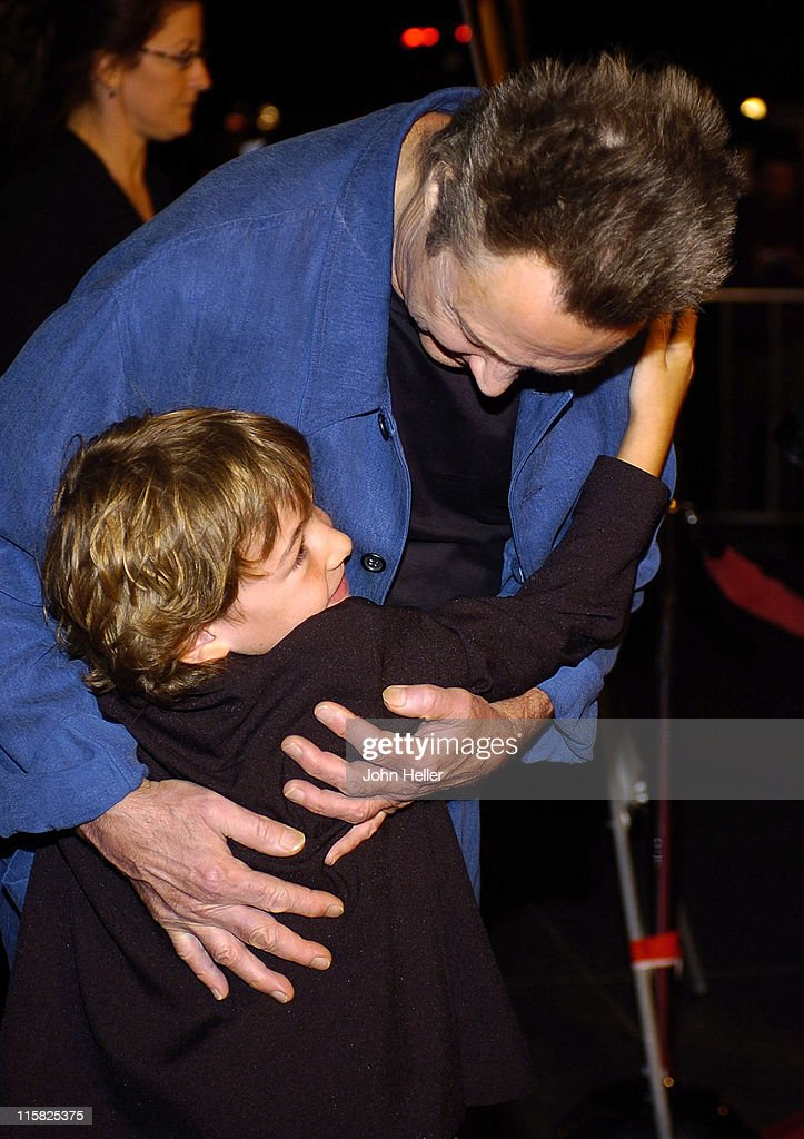 Christopher Walken and Jonah Bobo during 'Around The Bend' Los Angeles Premiere Arrivals at Directors Guild Of America in West Hollywood California...