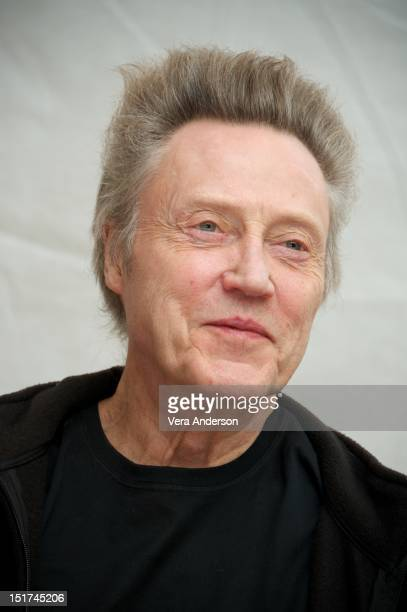 Christopher Walken at the 'Seven Psychopaths' Press Conference at the ShangriLa Hotel on September 8 2012 in Toronto Ontario