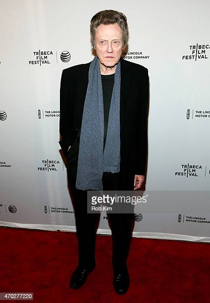 Christopher Walken attends the premiere of 'When I Live My Life Over Again' during the 2015 Tribeca Film Festival at the SVA Theater on April 18 2015...