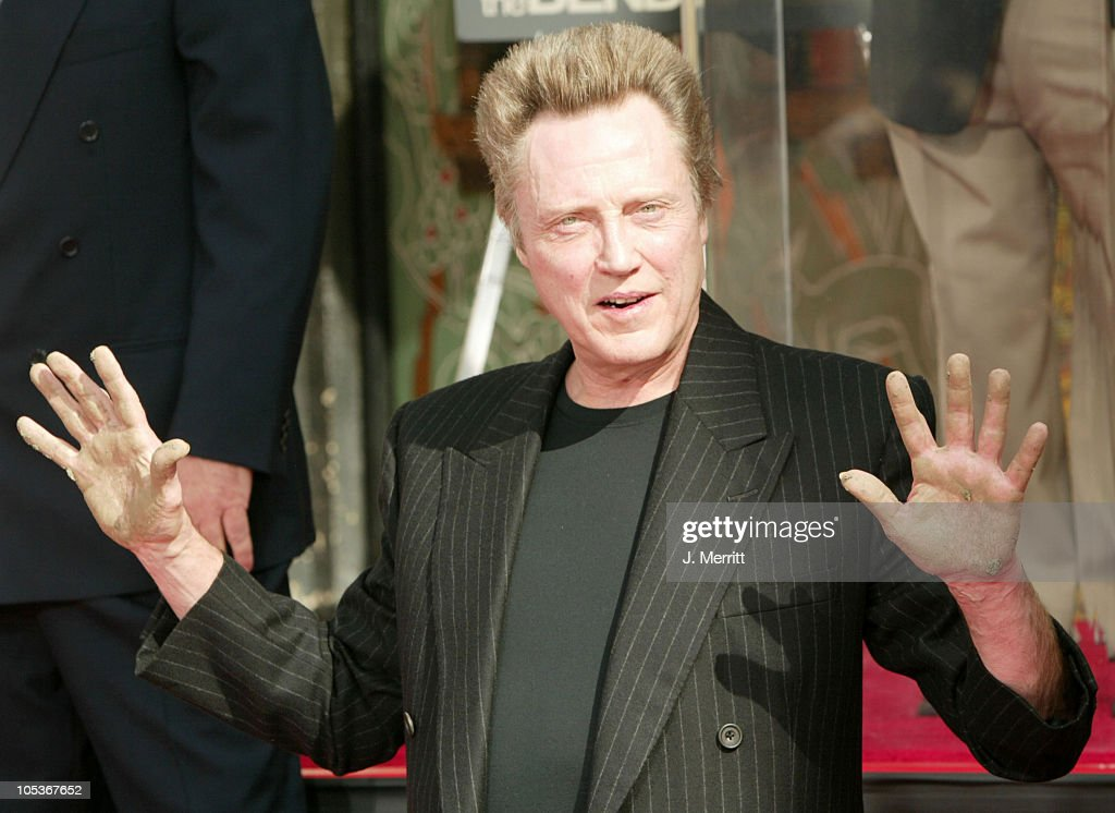 Christopher Walken Honored With A Hand and Footprints Ceremony