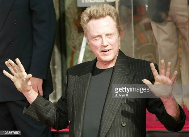 Christopher Walken during Christopher Walken Honored With A Hand and Footprints Ceremony at Grauman's Chinese Theatre in Hollywood California United...