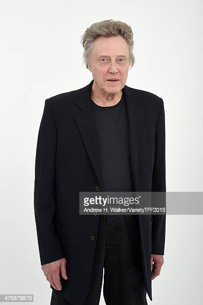 Christopher Walken from 'When I Live My Life Over Again' appears at the 2015 Tribeca Film Festival Getty Images Studio on April 18 2015 in New York...