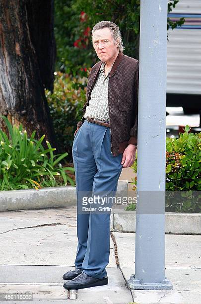Christopher Walken is seen on the movie set of 'Stand Up Guys' on April 11 2012 in Los Angeles California