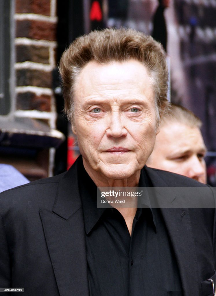 <a gi-track='captionPersonalityLinkClicked' href=/galleries/search?phrase=Christopher+Walken&family=editorial&specificpeople=209174 ng-click='$event.stopPropagation()'>Christopher Walken</a> leaves the 'Late Show with David Letterman' at Ed Sullivan Theater on June 11, 2014 in New York City.