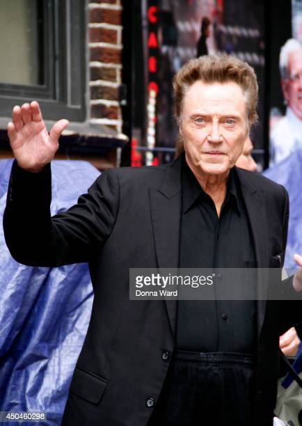 Christopher Walken leaves the 'Late Show with David Letterman' at Ed Sullivan Theater on June 11 2014 in New York City