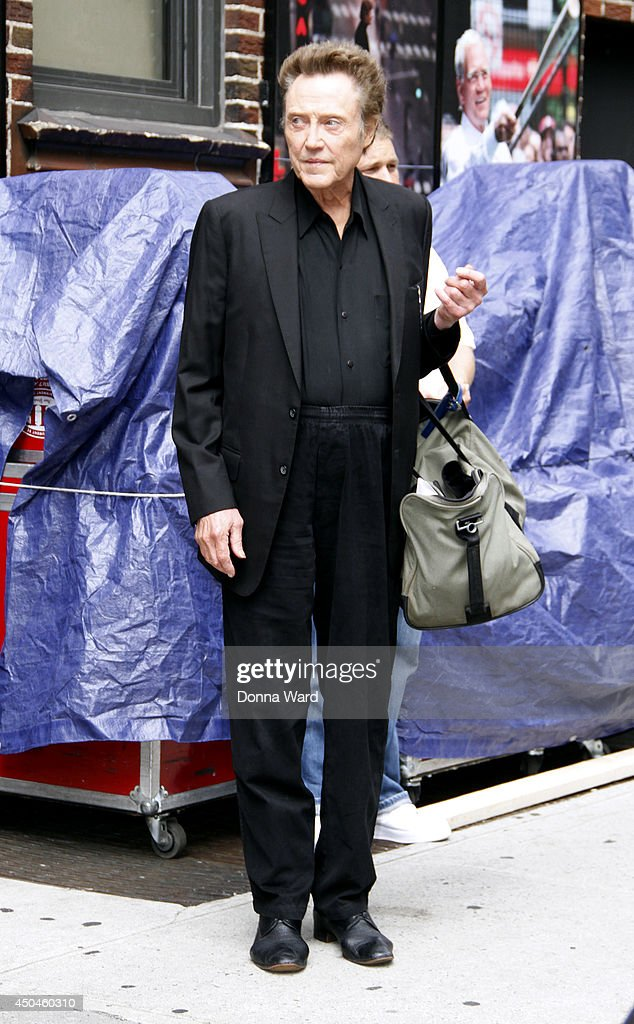 Christopher Walken leaves the 'Late Show with David Letterman' at Ed Sullivan Theater on June 11, 2014 in New York City.