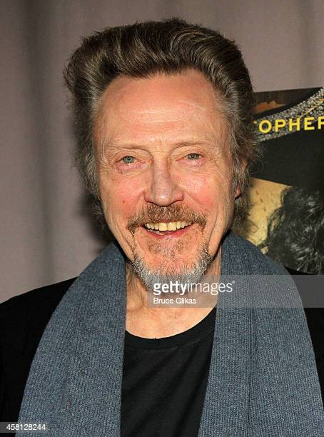 Christopher Walken poses at the NBC presents 'Peter Pan Live' Cast meet and greet at Baryshnikov Arts Center on October 30 2014 in New York City