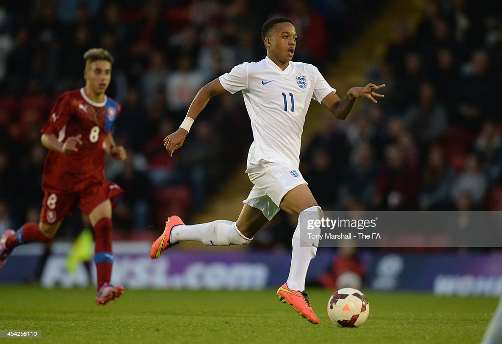 Christopher Willock of England during the Under 17 International match between England U17 and Czech Republic U17 at Aggborough Stadium on August 27, 2014 in Kidderminster, England.
