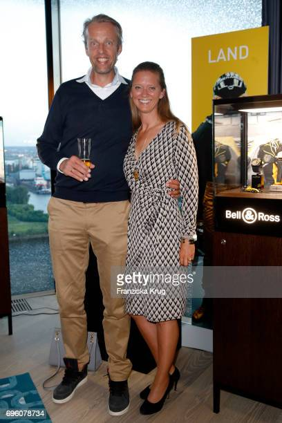 Christopher Winter and his wife Kim Winter attend the Bell Ross Cocktail Party at Elbphilharmonie show apartment on June 14 2017 in Hamburg Germany