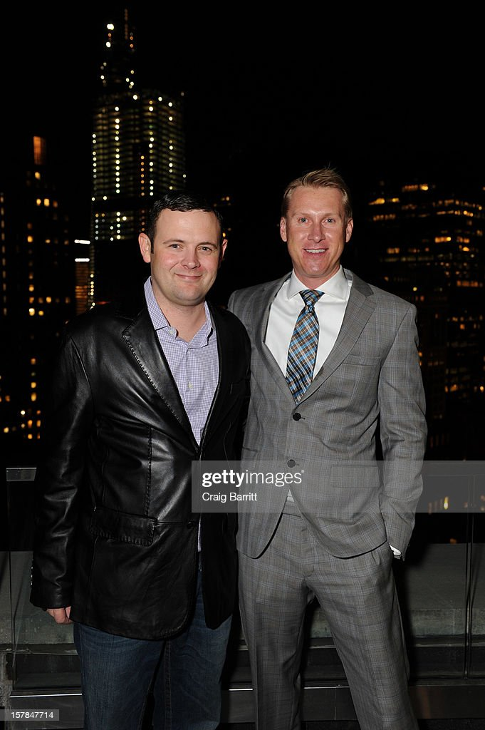 Christopher Woodrow and Hoyt David Morgan attend the Worldview Entertainment 2012 Holiday Party at William Beaver House on December 6, 2012 in New York City.