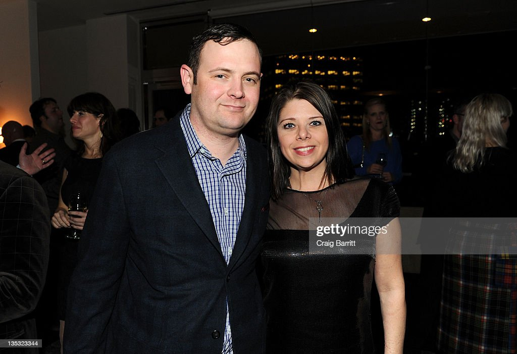 Christopher Woodrow and Sarah Woodrow attend the Worldview Entertainment 2011 Holiday Party at William Beaver House on December 8, 2011 in New York City.