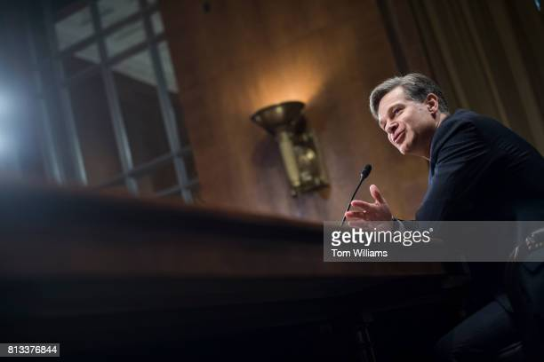 Christopher Wray nominee for FBI Director testifies during his Senate Judiciary Committee confirmation hearing in Dirksen Building on July 12 2017