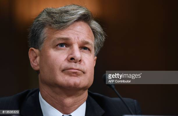 Christopher Wray testifies before the Senate Judiciary Committee on his nomination to be director of the Federal Bureau of Investigation in the...
