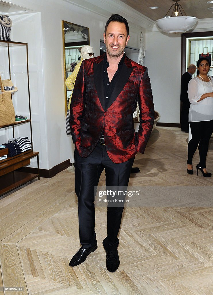 Christos Garkinos attends Tommy Hilfiger New West Coast Flagship Opening on Robertson Boulevard on February 13, 2013 in West Hollywood, California.
