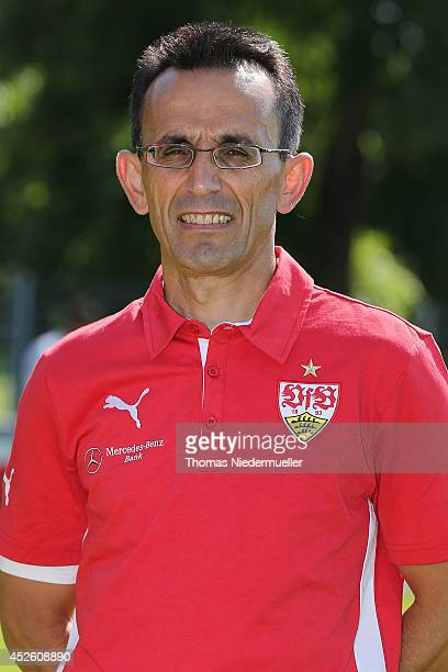 Christos Papadopoulos poses during the team presentation of Stuttgart at VfB Stuttgart Training Ground on July 24 2014 in Stuttgart Germany