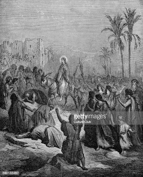 Christ's entry into Jerusalem / Palm Sunday illustration by Gustave DorŽ