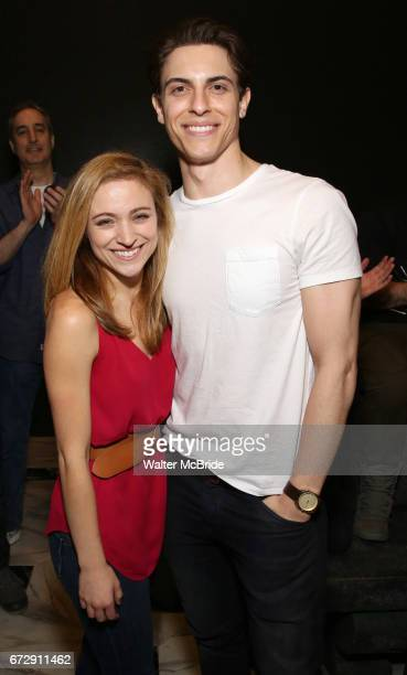 Christy Altomare and Derek Klena during the Actors' Equity Broadway Opening Night Gypsy Robe Ceremony honoring Shina Ann Morris for 'Anastasia' at...