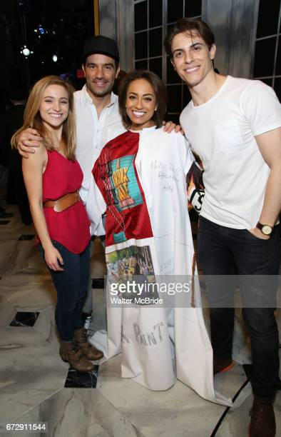 Christy Altomare Ramin Karimloo Shina Ann Morris and Derek Klena during the Actors' Equity Broadway Opening Night Gypsy Robe Ceremony honoring Shina...