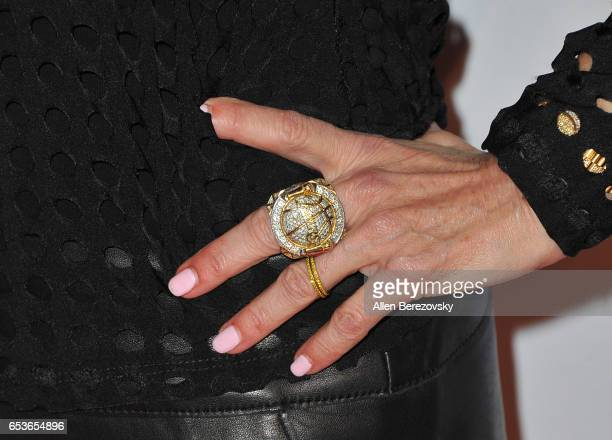 Christy Buss ring detail attends the premiere of Skinfly Entertainment's 'You Can't Have It' at TCL Chinese Theatre on March 15 2017 in Hollywood...