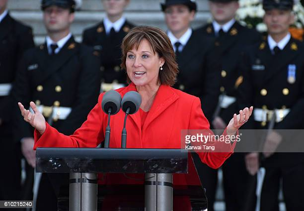 Christy Clark attends the Official Welcome Ceremony for the Royal Tour at the British Columbia Legislature on September 24 2016 in Victoria Canada