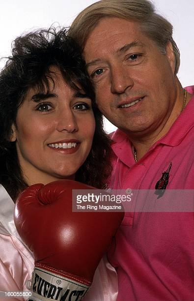 Christy Martin poses for a portrait with husband and trainerJim Martin in March1996 in New York