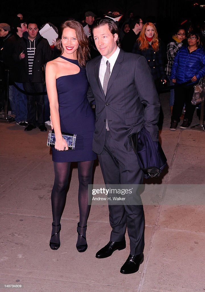 <a gi-track='captionPersonalityLinkClicked' href=/galleries/search?phrase=Christy+Turlington&family=editorial&specificpeople=207046 ng-click='$event.stopPropagation()'>Christy Turlington</a> and actor <a gi-track='captionPersonalityLinkClicked' href=/galleries/search?phrase=Edward+Burns&family=editorial&specificpeople=223896 ng-click='$event.stopPropagation()'>Edward Burns</a> attend the Cinema Society & People StyleWatch with Grey Goose screening of 'Friends With Kids' at the SVA Theater on March 5, 2012 in New York City.