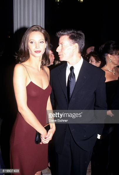 Christy Turlington and Calvin Klein attend event New York December 1 1996