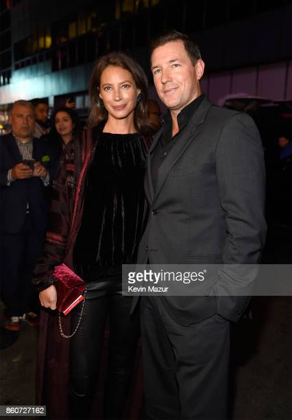 Christy Turlington and Ed Burns attend 'Springsteen On Broadway' at Walter Kerr Theatre on October 12 2017 in New York City