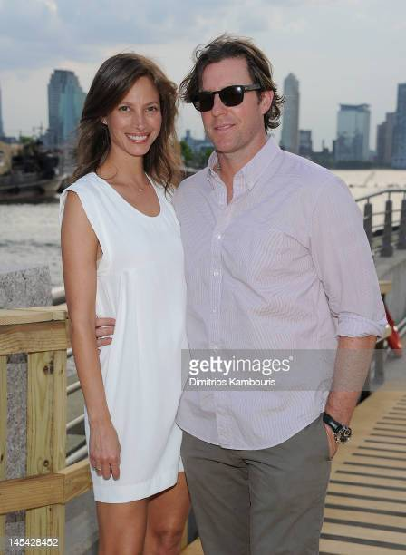 Christy Turlington and Ed Burns attend the 2012 Hudson River Park Gala at Hudson River Park on May 29 2012 in New York City